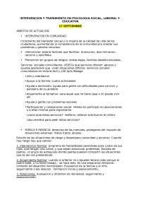 TEMA 1. Intervencion y tratamiento en psicologia social, laboral y educativa