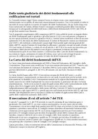 Dalla tutela giudiziaria dei diritti fondamentali alla codificazione nei trattati