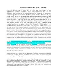 Consumer Behavior on Motorola iridium