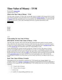 TVM Business Finance