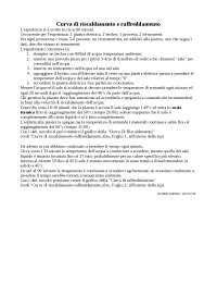 Relazione di laboratorio curve di riscaldamento/raffreddamento