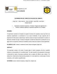 DETERMINACIÓN DEL TIEMPO DE FRAGUADO DEL CEMENTO