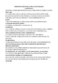 DIDATTICA DELL'INCLUSIONE