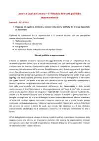 Appunti LAVORO E CAPITALE UMANO - I MODULO a.a. 2018/19