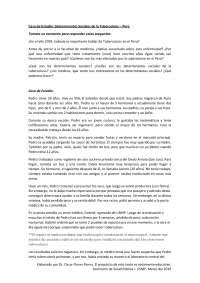Tuberculosis y determinantes