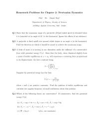 Problems in Classical  Mechanics