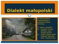 przentacja dialektu małopolskiego