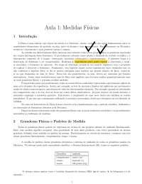 Introdução as Medidas Físicas