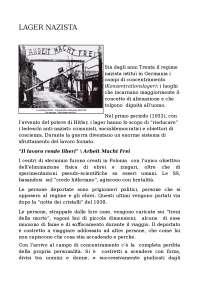 Lager Nazista: descrizione dei campi di concentramento negli anni '30