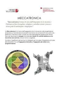 Meccatronica DESCRIZIONE