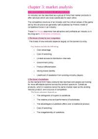 Market Analysis of and organisation