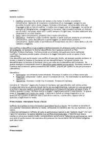 Appunti lezioni Sociolinguistica - Prof. Federico Boni