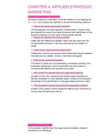 Customer Analysis of an organisation