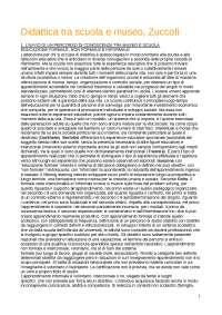 Riassunto DIDATTICA TRA SCUOLA E MUSEO