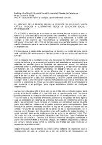 Vigilar y Castigar, Justícia, Conflicte i Educació Social Universitat