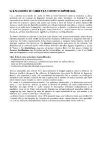 5.2 LAS CORTES DE CADIZ Y LA CONSTITUCIÓN DE 1813