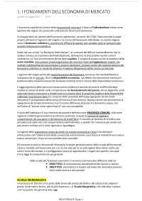 I FONDAMENTI DELL'ECONOMIA DI MERCATO
