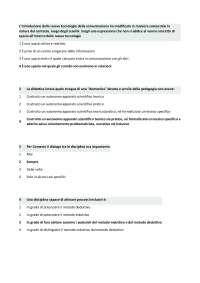 Test Didattica generale a risposta multipla