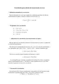 Convolucion para Laplace