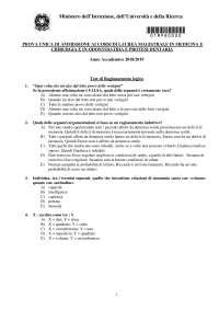 Test risposta multipla biologia