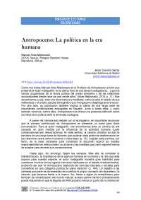 """Resumen de """"El Antropoceno"""""""