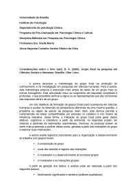 Gatti, B. A. (2005). Grupo focal na pesquisa em Ciências Sociais e Humanas. Brasília: Líber Livro.