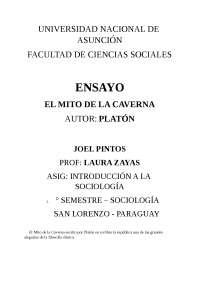 Ensayo Mito De La Caverna Docsity