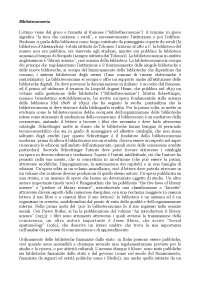Appunti di biblioteconomia, professoressa Biagetti.