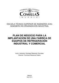 PLAN DE NEGOCIO DE ELEMENTOS DE REFRIGERACION COMERCIAL