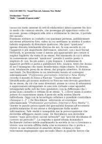 "SAGGIO BREVE: ""Social Network, Internet, New Media"""
