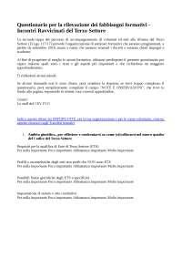 Questionario per la rilevazione dei fabbisogni formativi.
