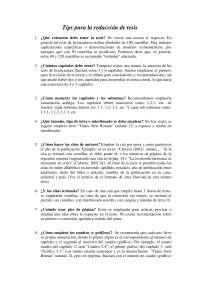 TIPS PARA TESIS del doctor Cabrera