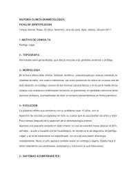 Historia clinica dermatológica