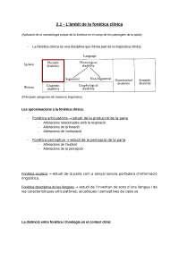 Tema 2 - Lingüística aplicada a les patologies del llenguatge