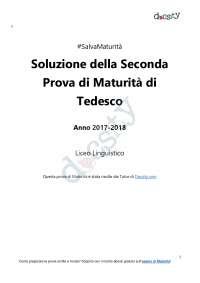 Soluzioni della seconda prova di Tedesco - Maturità 2018