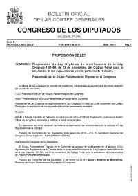 propuesta modificacion de ley