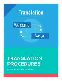 Translation procedures: adaptation and literal translation