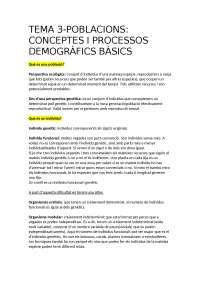 Tema 3 Ecologia grado Biologia