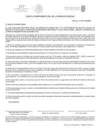 Carta compromiso  para obtención de la beca de la escuela