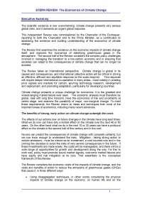 Rapporto Stern rewiew sul cambiamento climatico
