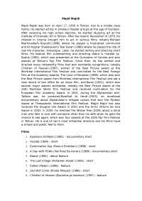 Film Studies- Report on Majid Majidi