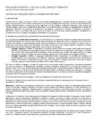 Riassunto manuale Psicologia positiva a scuola e nei contesti formativi Soresi-Nota