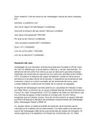 Resumen caso volkswagen