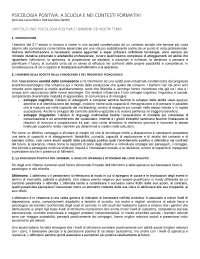 Riassunto manuale Psicologia positiva per l'orientamento e il lavoro Nota-Soresi
