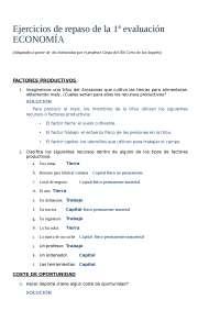 EJERCICIOS DE ECONOMIA BASICA