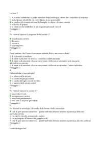 TEST LEZIONE 3 LA SOCIOLOGIA HA LA SUA STORIA