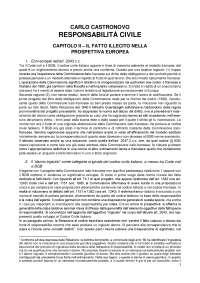 Responsabilità Civile - C. Castronovo - PRIMA EDIZIONE, 2018 (Capp. II, IV, VI, VII, VIII, XIV, XV)
