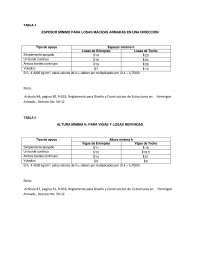 TABLAS PARA CALCULOS ESTRUCTURALES