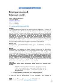 INTERSECCIONALISMO ENSAYO