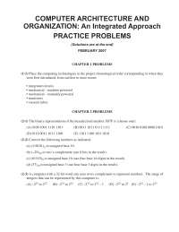 practice question on advanced architecture